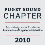 Puget Sound Chapter Acknowledgement